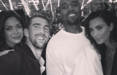 Michael Phelps Kanye West Kim Kardashian