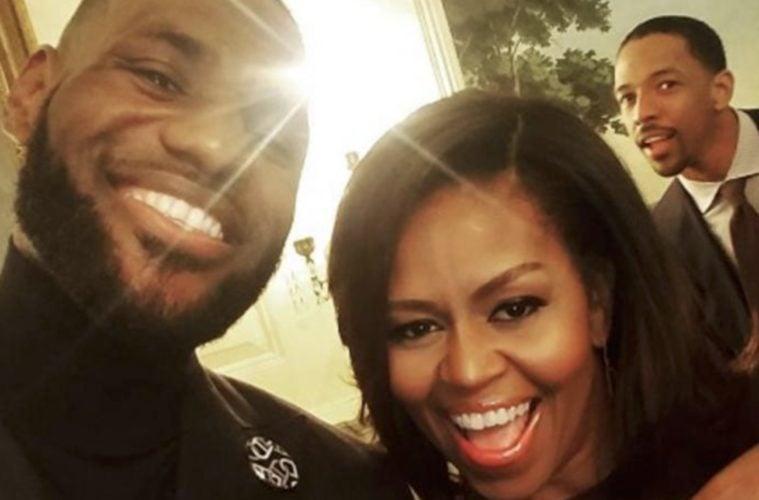 LeBron James Michelle Obama