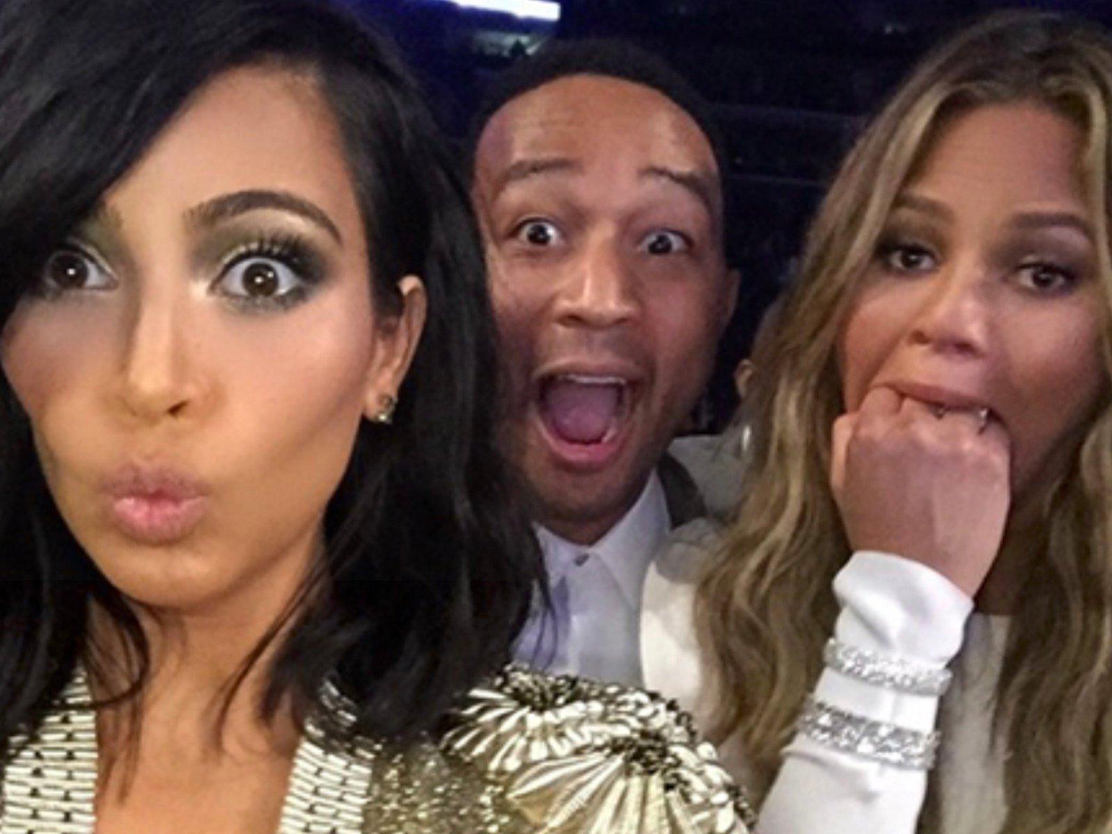 Kim Kardashian John Legend Chrissy Teigen
