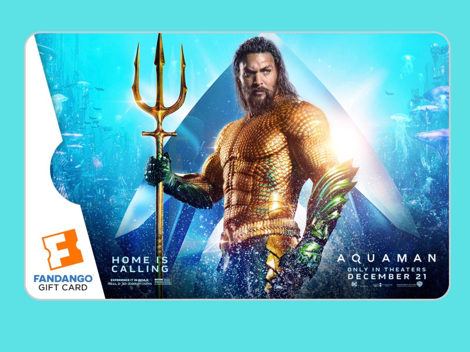 Fandango Aquaman Gift Card