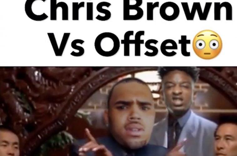 Chris Brown Offset Meme