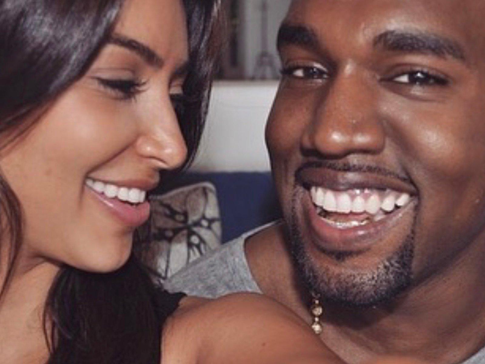 Kim Kardashian Kanye West Selfie