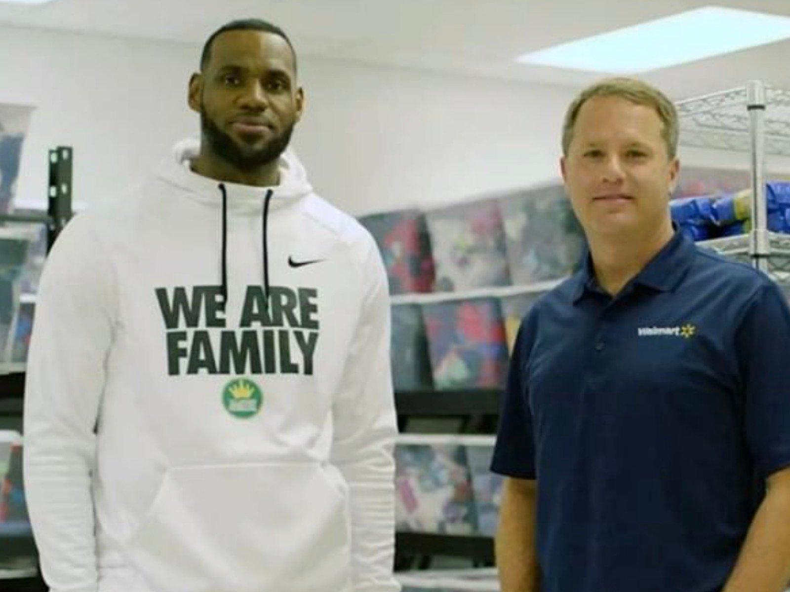 LeBron James Wal-Mart