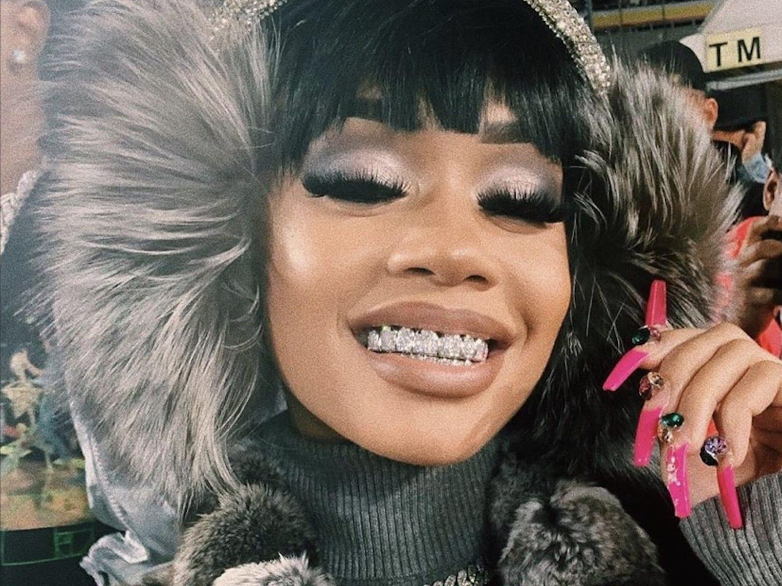 Saweetie Winter Selfie