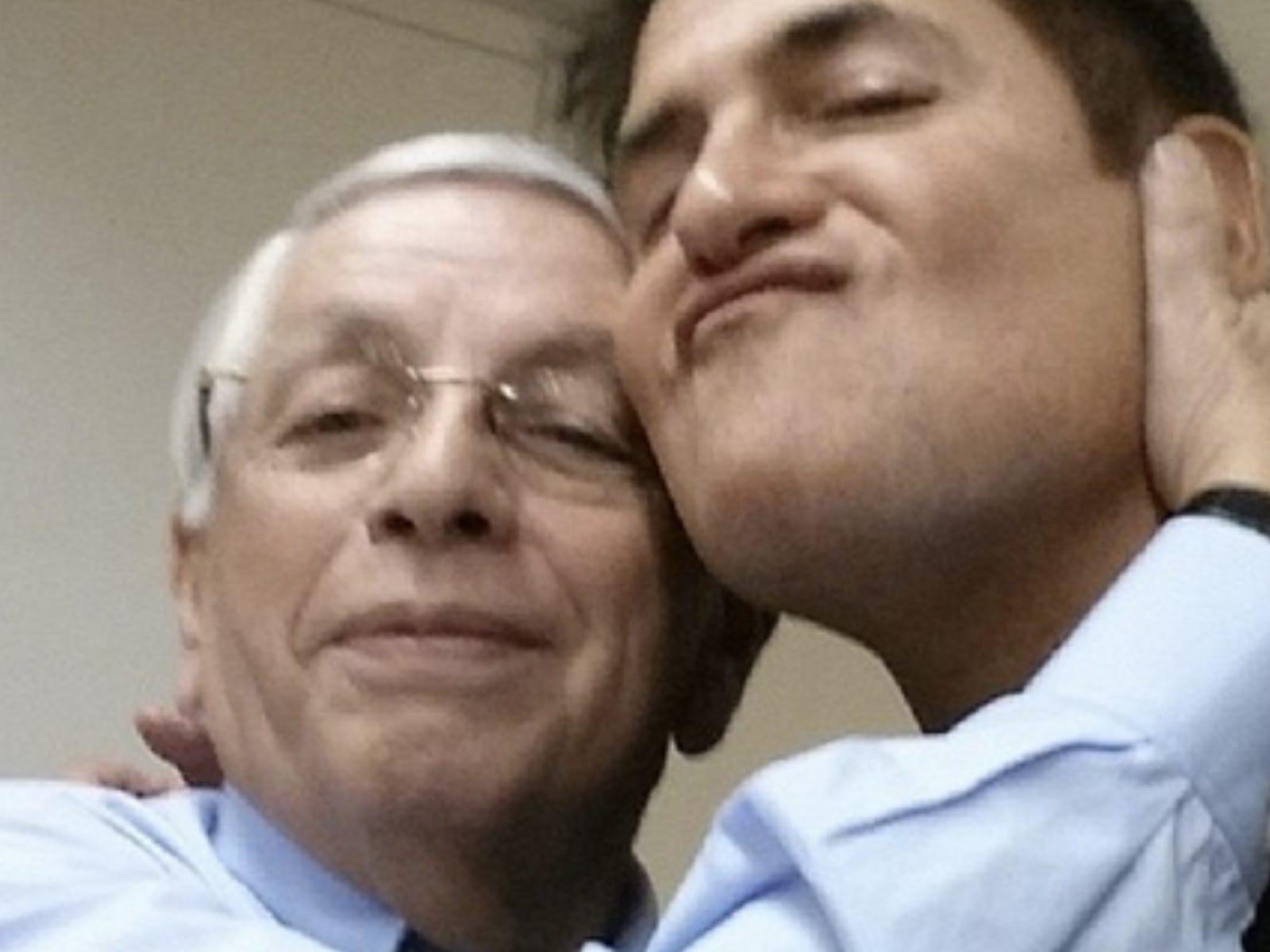 David Stern Mark Cuban Selfie