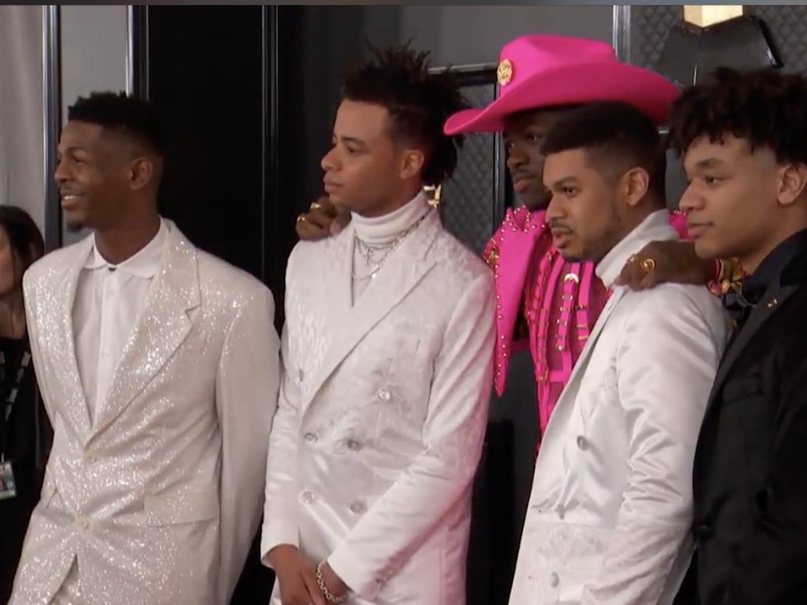 Lil Nas X 2020 Grammys Red Carpet Video