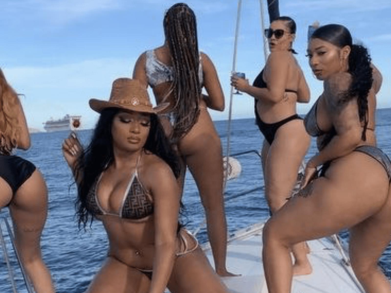 Megan Thee Stallion Bikini Gang-Gang Footage