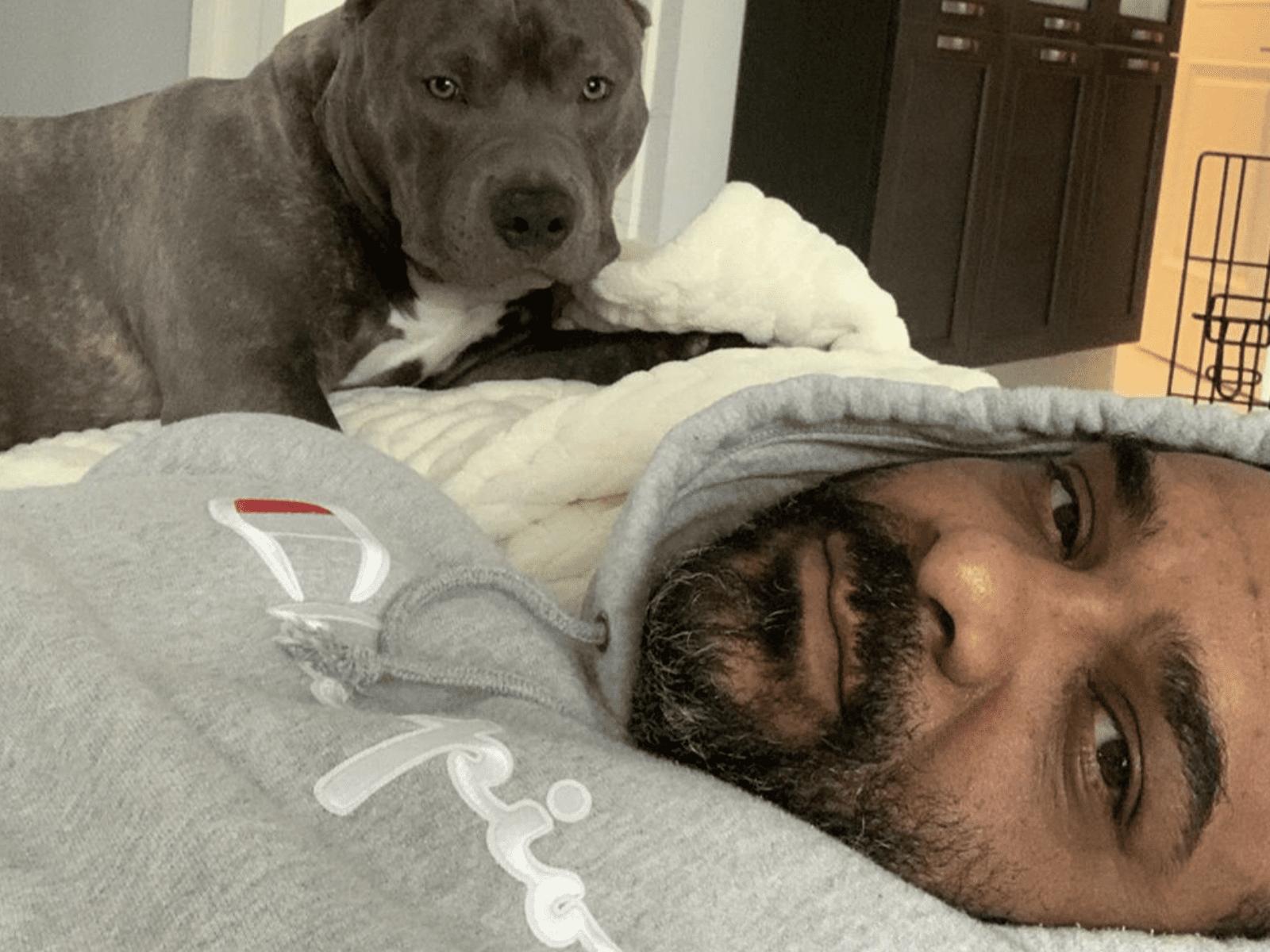 Jim Jones Dog Selfie