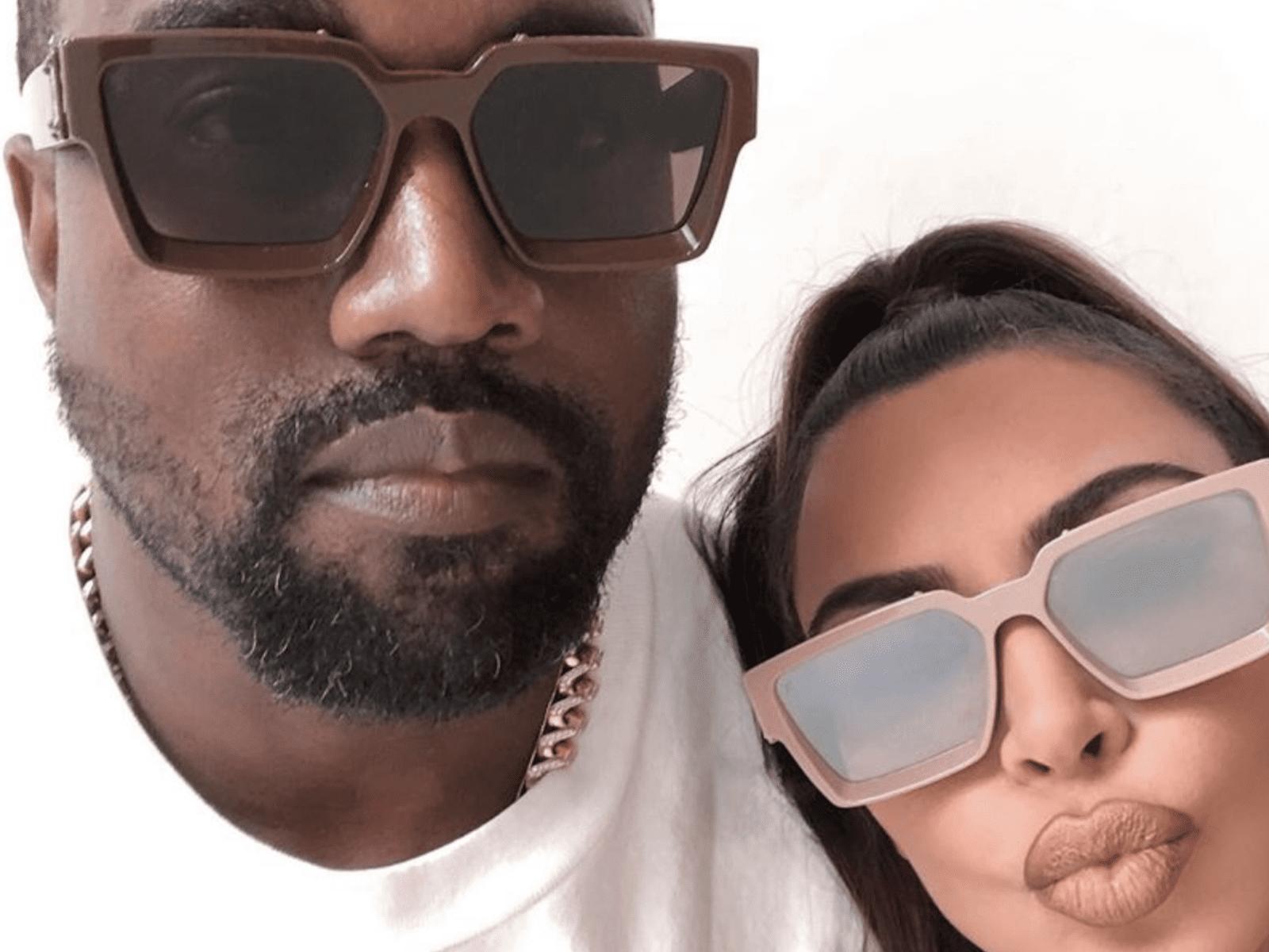 Kanye West Kim Kardashian Selfie Moment Together