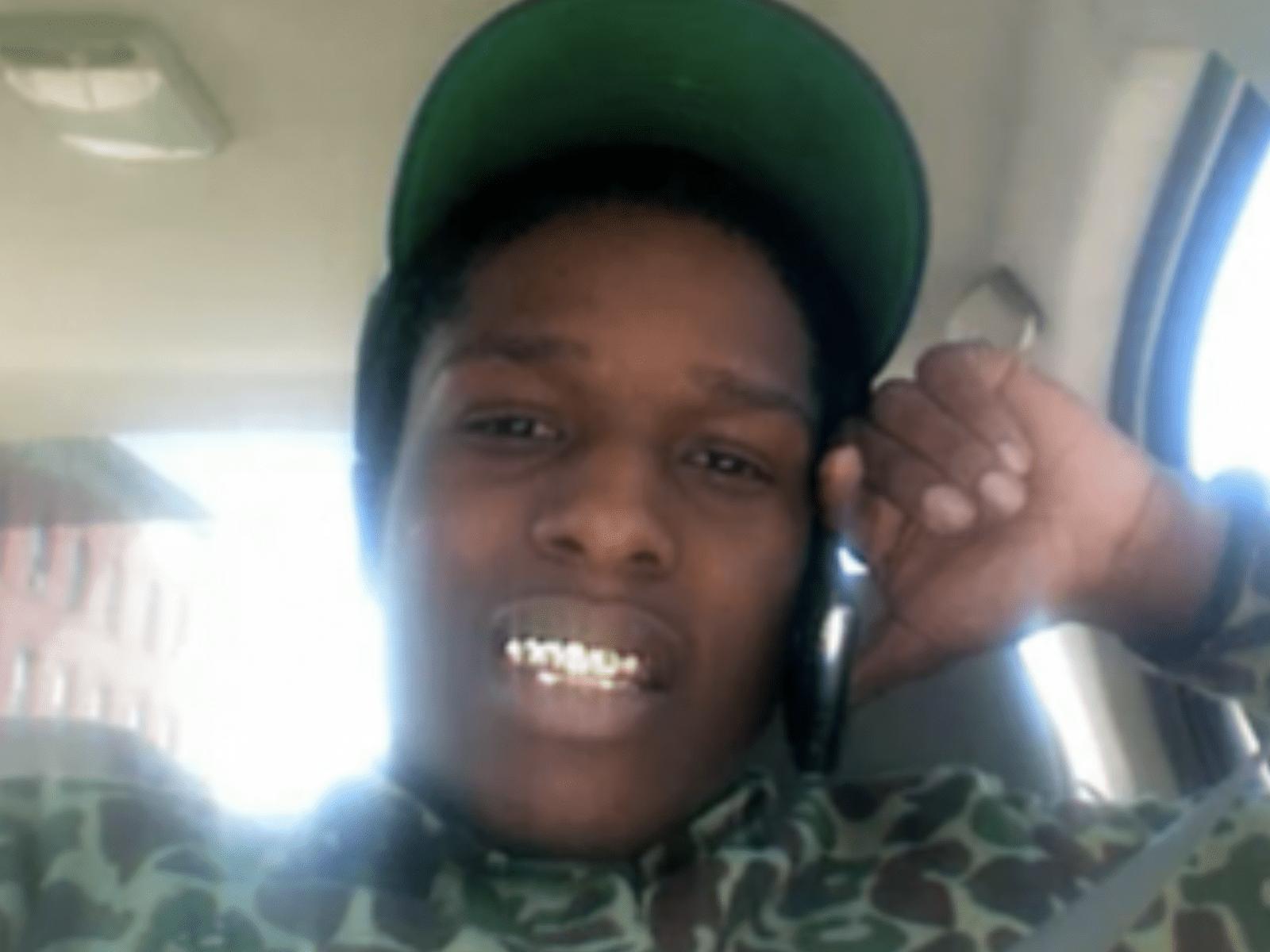 A$AP Rocky Selfie Pic Smile Green