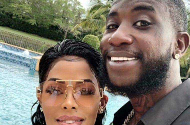 Keyshia Ka'oir and Gucci Mane Selfie Pool Pic