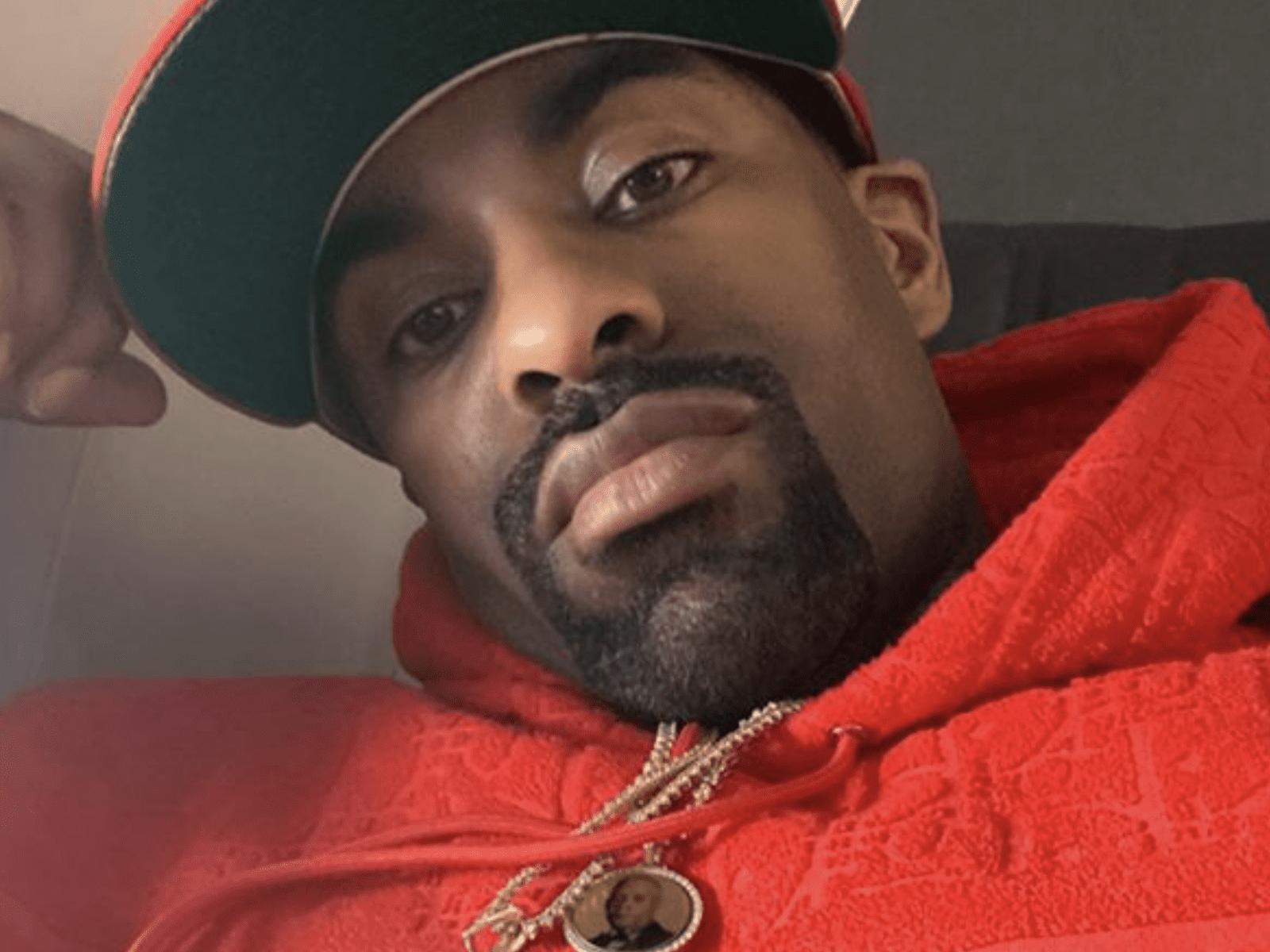 DJ Clue Red Hoodie Selfie