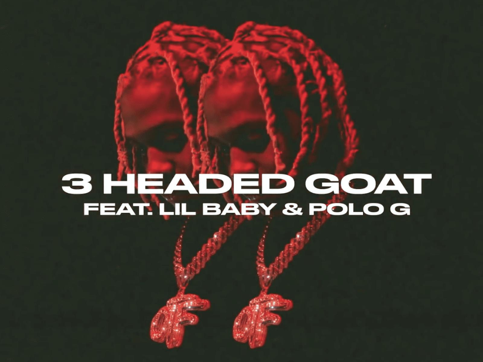 Lil Durk 3 Headed Goat Artwork