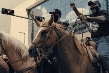 Houston Bun B Protest Horses Footage