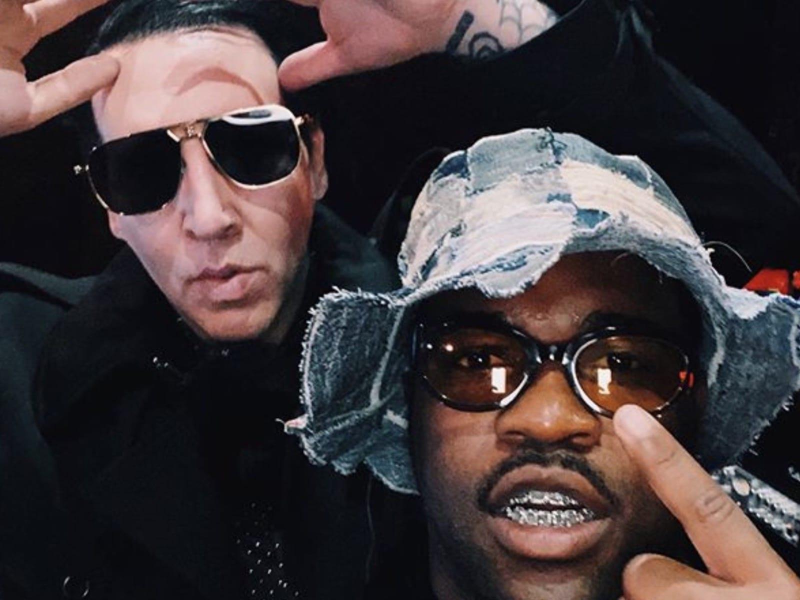 A$AP Ferg and Marilyn Manson Selfie