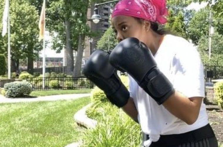 Angela Simmons Boxing Training Bandana Clip