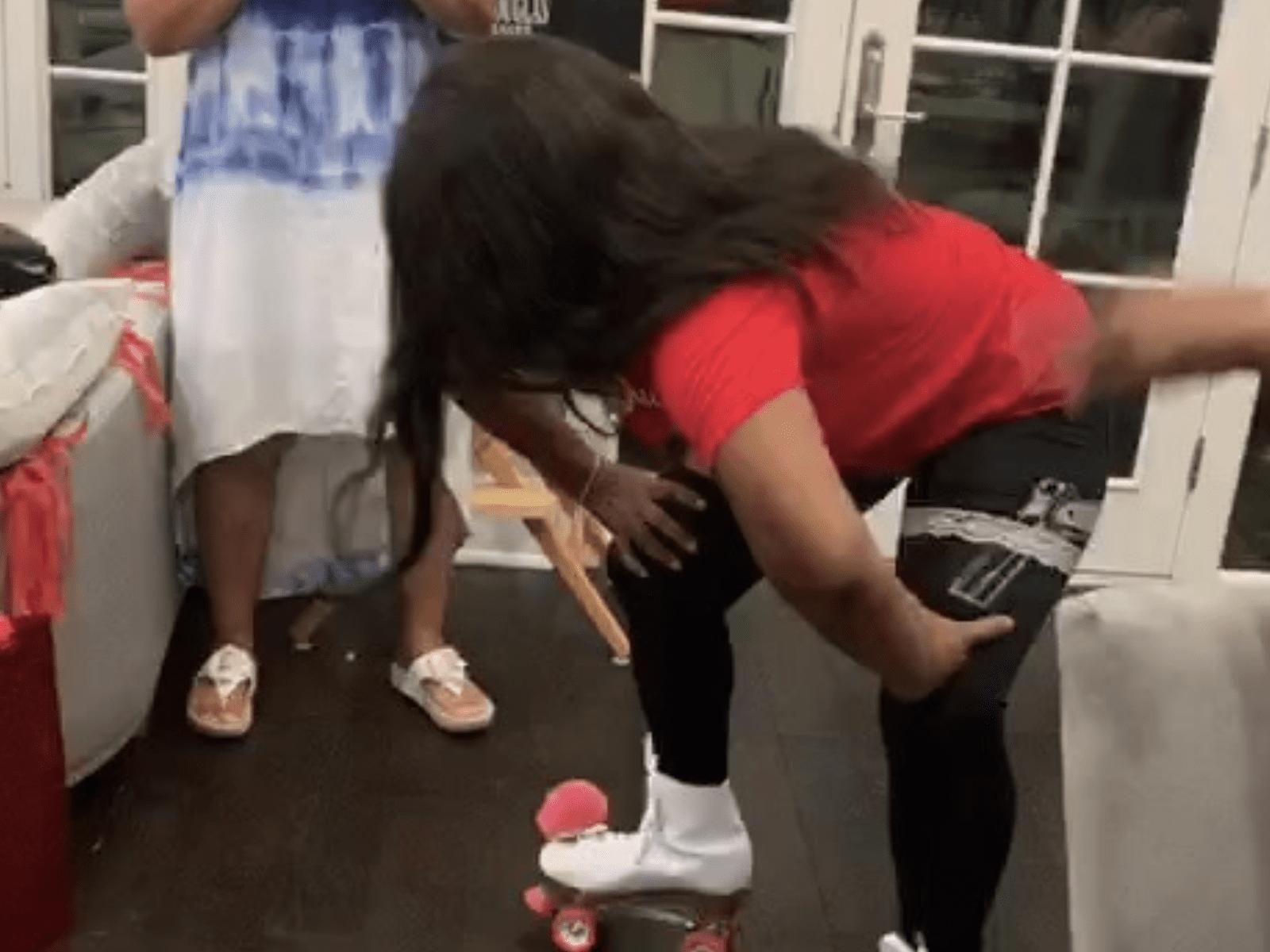 Ashanti Mom Dancing Moment