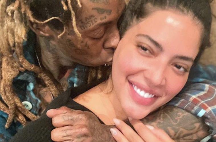 Denise BIdot Lil Wayne Kissing Selfie Moment