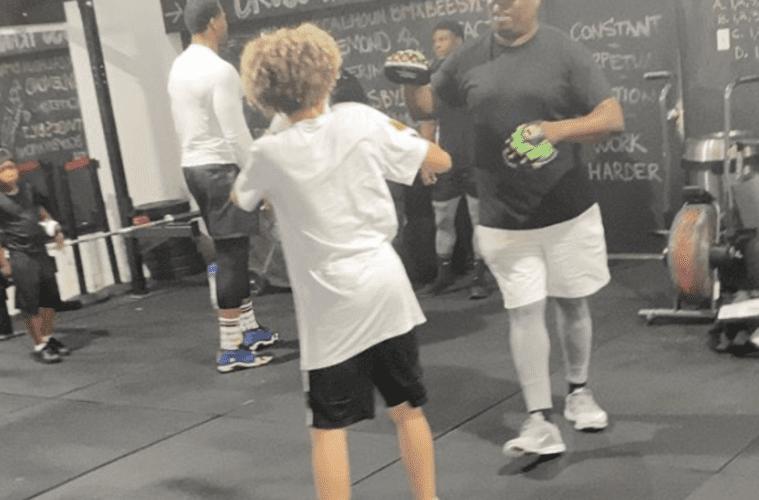 T.I. Son Boxing