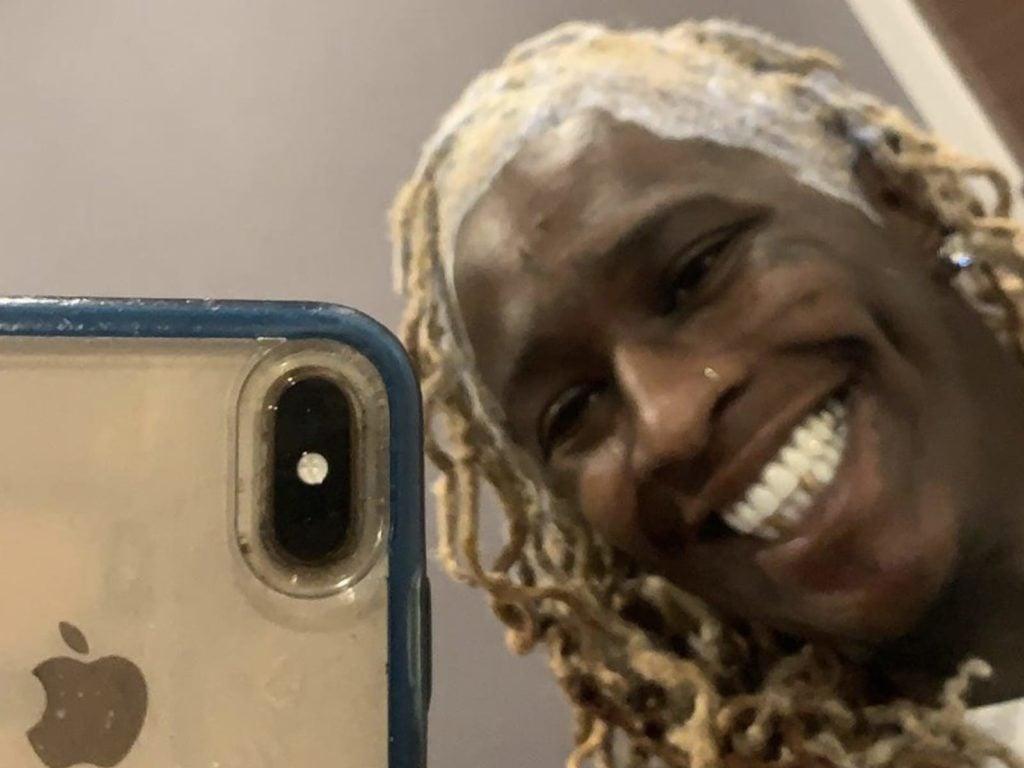 Young Thug Cheesy Selfie Smile