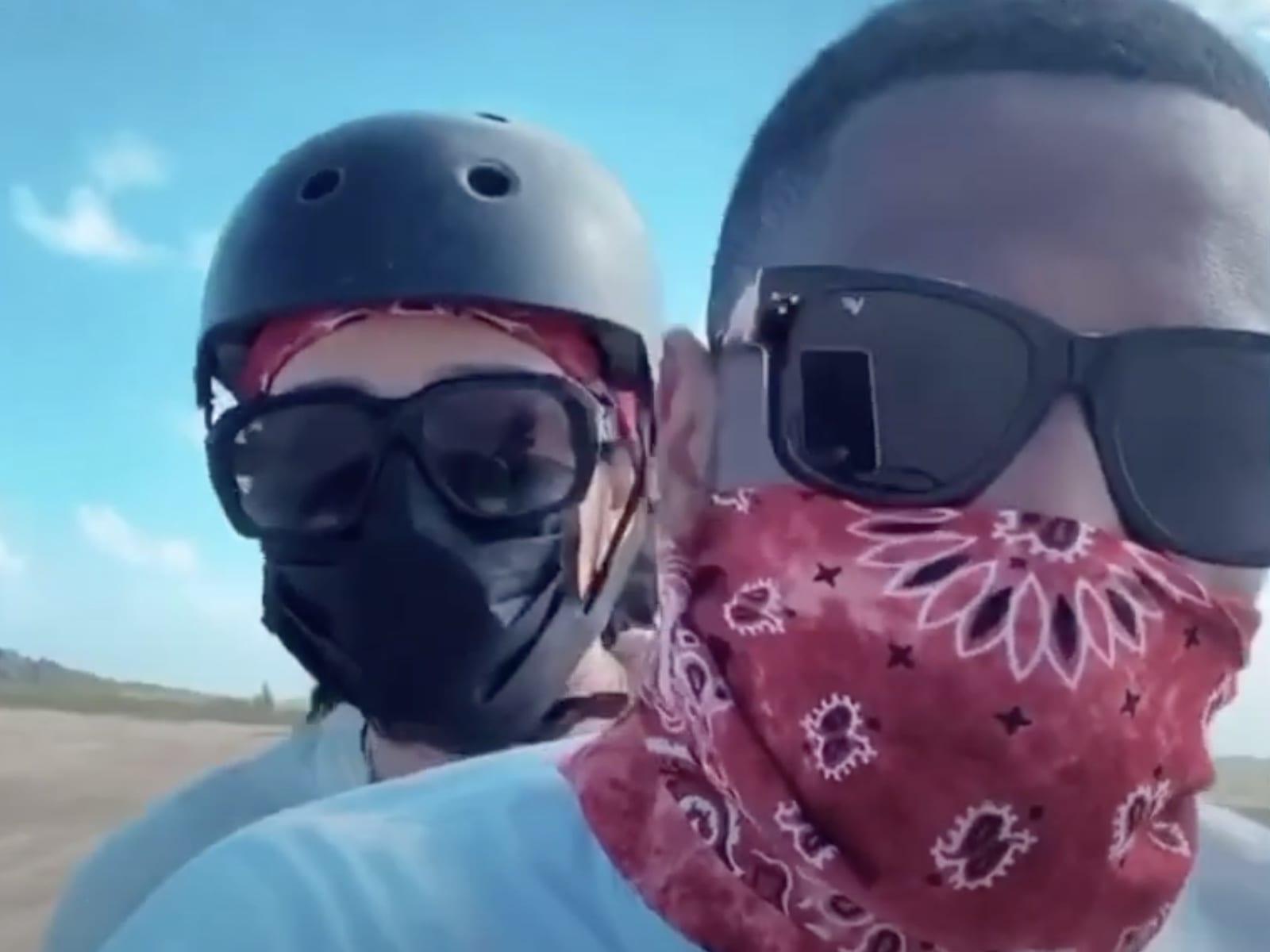 Emily B + Fabolous Ride ATVs Together In Aruba W: Jim Jones + Chrissy Lampkin 2