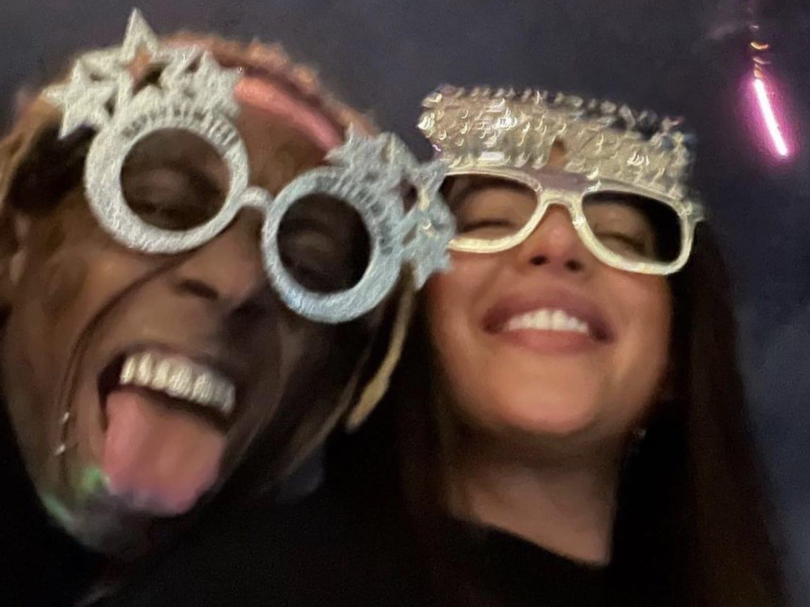 Lil Wayne Denise Bidot New Year's Moment