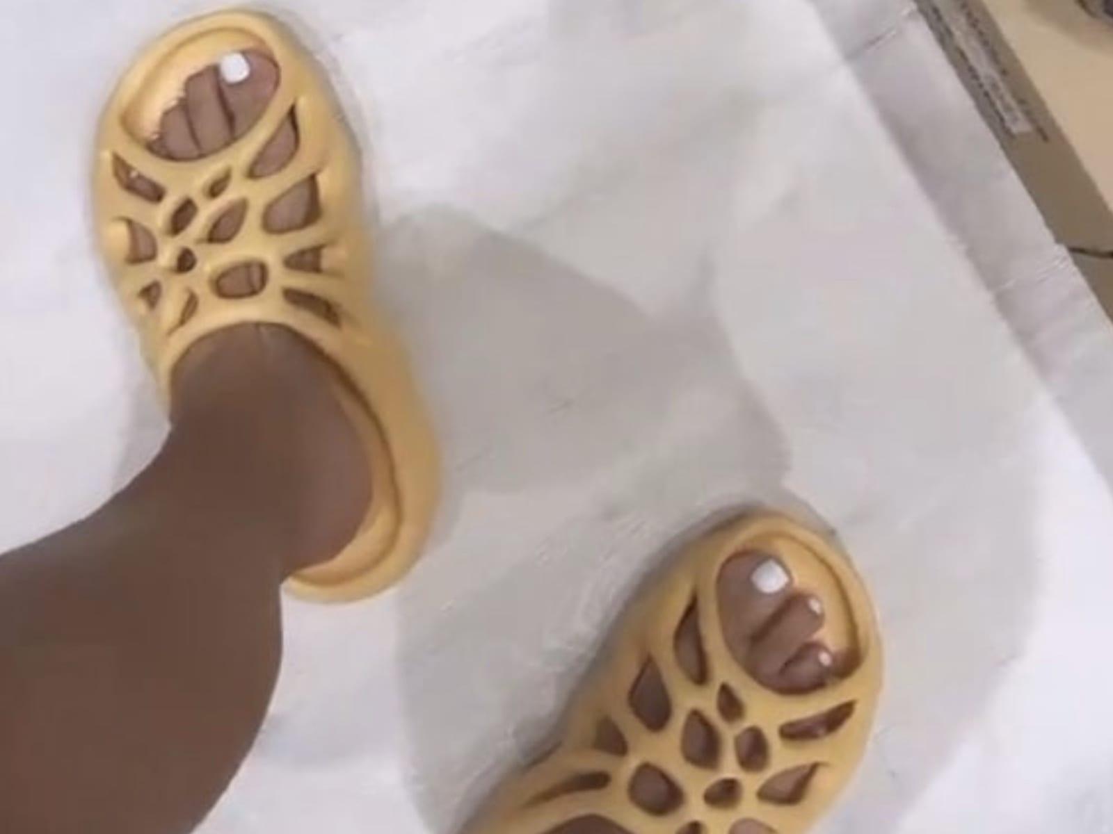 Kanye West Flamed After Kim Kardashian Reveals New Yeezy Slides