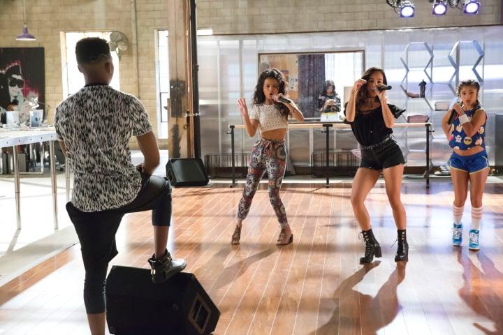 EMPIRE: L-R: Bryshere Gray and guest stars Jamila Velazquez, Yani Marin and Raquel Castro in the