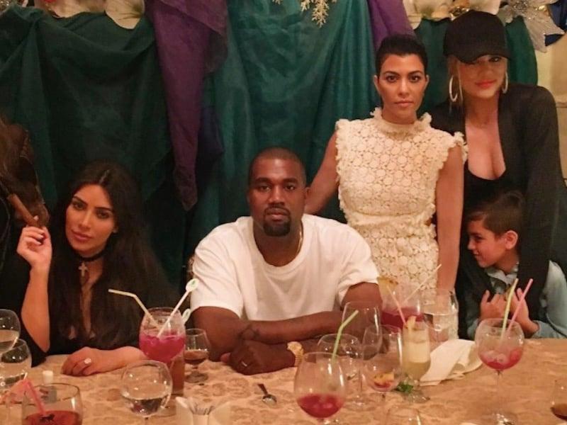 Kim-Kardashian-Kanye-West-Kourtney-Kardashian-Khloe-Kardashian