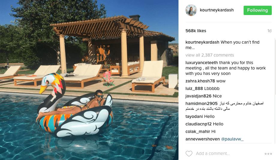Kourtney Kardashian IG