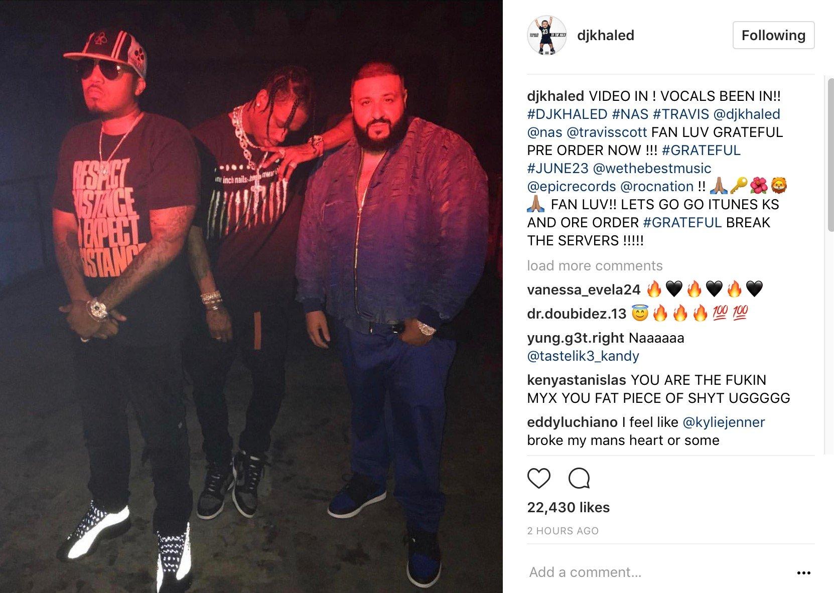 Nas Shares Rare Jay Z, Rick Ross & Andre 3000 Pic –
