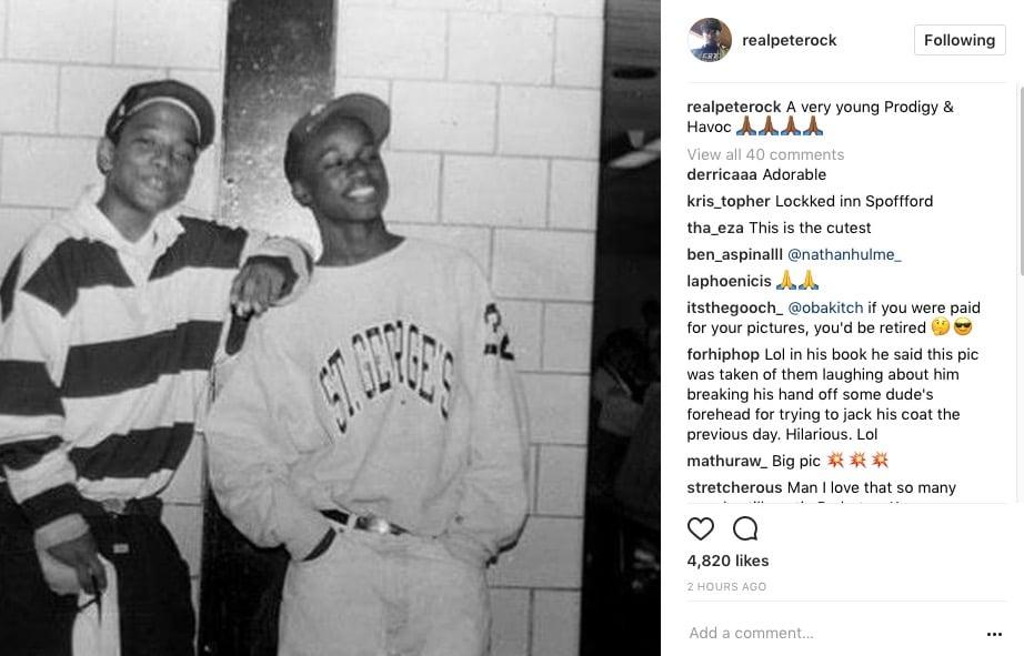 Lyric mobb deep shook ones part 2 lyrics : Nas Shares Vintage Prodigy Pic:
