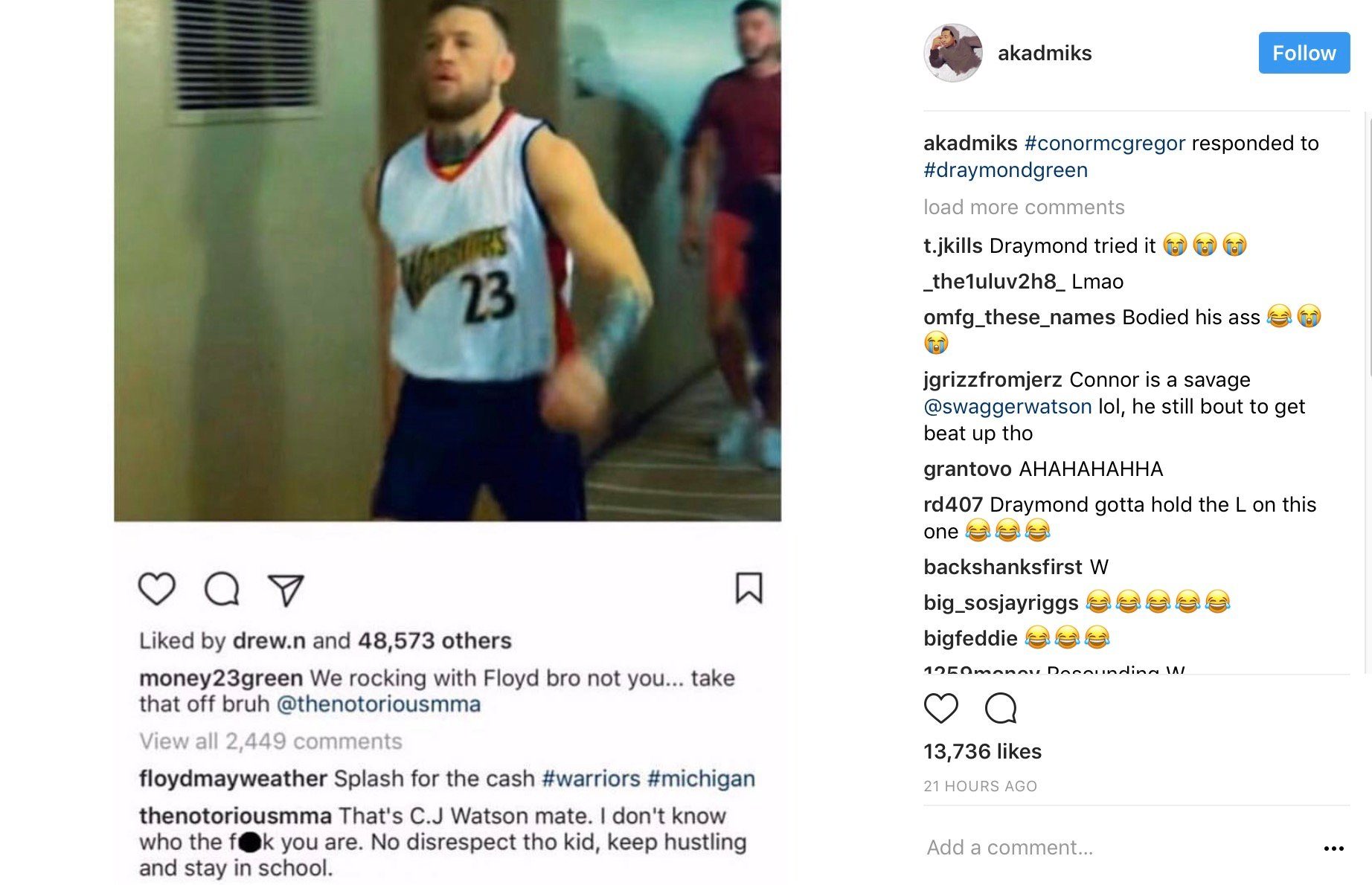 """Conor McGregor Delivers A Legit Azz-Whooping W/ Pics To Prove It: """"It's Another Day For Me"""" –"""